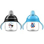 Philips Avent My Little Penguin 2-Pack 7 oz. Sippy Cup in Blue/Black