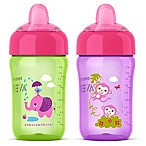 Philips Avent 2-Pack 12 oz. My Sip N Click Cups in Purple/Green