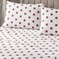 Brielle Fashion Cotton Jersey Queen Pom-Pom Sheet Set in White