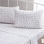 Brielle Fashion Cotton Jersey Anchor Queen Sheet Set in Navy