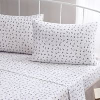 Brielle Fashion Cotton Jersey Anchor King Sheet Set in Navy