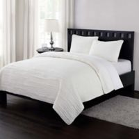 London Fog® Garment Washed Crinkle King Quilt Set in Cream