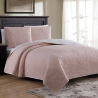Estate Marseille King Quilt Set in Soft Pink