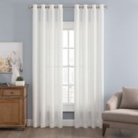 Messina Solid 84-Inch Grommet Window Curtain Panel in White
