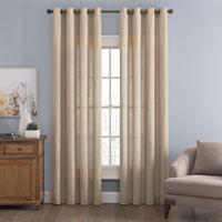 Messina Solid 84-Inch Grommet Window Curtain Panel in Linen