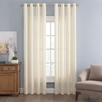 Messina Solid 63-Inch Grommet Window Curtain Panel in Cream