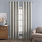 Messina Solid 95-Inch Grommet Window Curtain Panel in Grey