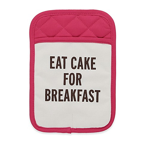 Kate Spade New York Quot Eat Cake For Breakfast Quot Pot Holder In