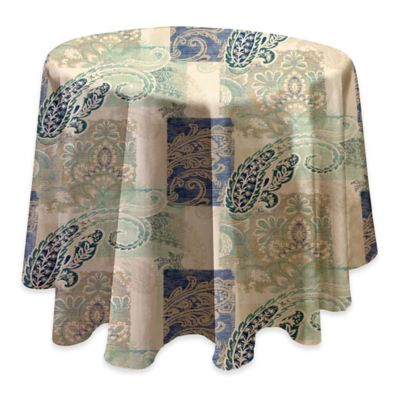 Madison 70 Inch Round Tablecloth In Taupe