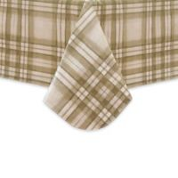 Reeve Plaid 52-Inch Square Vinyl Tablecloth in Grey