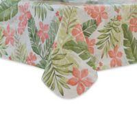 Tropics 52-Inch x 70-Inch Oblong Vinyl Tablecloth
