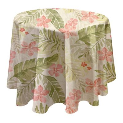 buy pink round linen tablecloths from bed bath & beyond