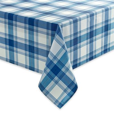 Benson Mills Tuscan Plaid 70 Inch Square Tablecloth In Indigo