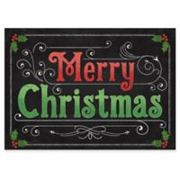 """Premium Comfort by Weather Guard™ 22-Inch x 31-Inch """"Merry Christmas"""" Blackboard Mat"""