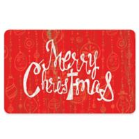 """The Softer Side By Weather Guard™ 23-Inch x 36-Inch """"Merry Christmas"""" Mat in Red/White"""
