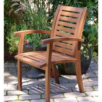 Outdoor Interiors® Eucalyptus Outdoor Luxe Arm Chair In Brown Umber