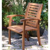 Outdoor Interiors® Eucalyptus Outdoor Luxe Arm Chair in Brown Umber