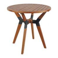 Outdoor Interiors® Eucalyptus and Metal 30-Inch Outdoor Bistro Table in Brown Umber
