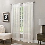 Somerset Crushed Sheer 63-Inch Rod Pocket Window Curtain Panel in White
