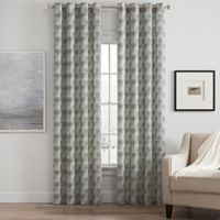 Messina Print 63-Inch Grommet Window Curtain Panel in Grey