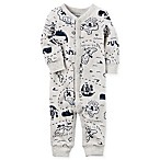 carter's® Size 3M Pirate Map Coverall in Heather Grey