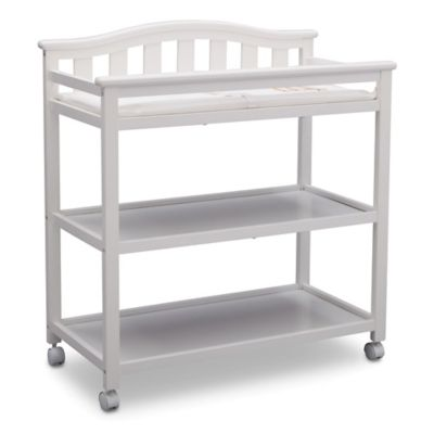 Changing Tables U003e Delta Children Bell Top Changing Table In Bianca White