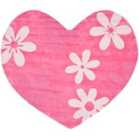 Safavieh Kids® Heart 7-Foot x 8-Foot Area Rug in Pink