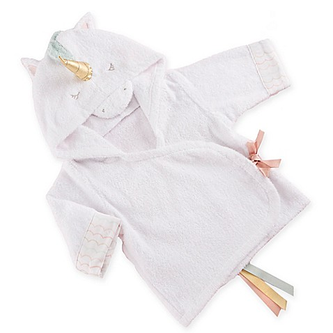 Baby Aspen Size 0-9M Simply Enchanted Unicorn Hooded Spa Robe