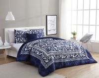VCNY Eleanor 3-Piece Twin/Twin XL Duvet Cover Set in Navy/White