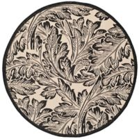 Safavieh Autumn Leaves 6-Foot 7-Inch Round Indoor/Outdoor Area Rug in Sand