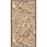 Safavieh Autumn Leaves 2-Foot x 3-Foot 7-Inch Indoor/Outdoor Accent Rug in Natural/Chocolate