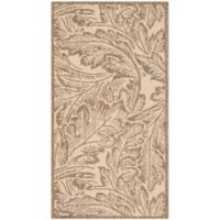 Safavieh Autumn Leaves 2-Foot x 3-Foot 7-Inch Indoor/Outdoor Accent Rug in Natural/Brown