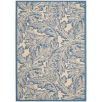 Safavieh Autumn Leaves 2-Foot 7-Inch x 5-Foot Indoor/Outdoor Area Rug in Natural/Blue