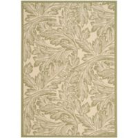 Safavieh Autumn Leaves 4-Foot x 5-Foot 7-Inch Indoor/Outdoor Area Rug in Natural/Olive