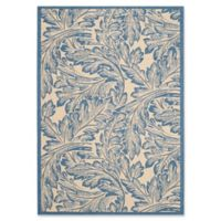 Safavieh Autumn Leaves 5-Foot 3-Inch x 7-Foot 7-Inch Indoor/Outdoor Area Rug in Natural/Blue