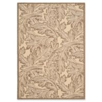 Safavieh Autumn Leaves 5-Foot 3-Inch x 7-Foot 7-Inch Indoor/Outdoor Area Rug in Natural/Brown