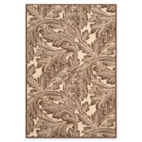 Safavieh Autumn Leaves 5-Foot 3-Inch x 7-Foot 7-Inch Indoor/Outdoor Area Rug in Natural/Chocolate