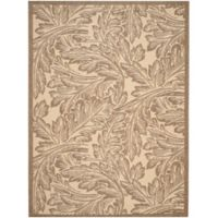 Safavieh Autumn Leaves 6-Foot 7-Inch x 9-Foot 6-Inch Indoor/Outdoor Area Rug in Natural/Brown