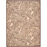 Safavieh Autumn Leaves 6-Foot 7-Inch x 9-Foot 6-Inch Indoor/Outdoor Area Rug in Natural/Chocolate