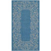 Safavieh Vine Scroll 2-Foot x 3-Foot 7-Inch Indoor/Outdoor Accent Rug in Blue