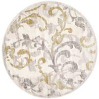 Safavieh Amherst Vinery 7-Foot Round Indoor/Outdoor Area Rug in Ivory/Light Grey