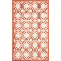 Safavieh Amherst Abigail 3-Foot x 5-Foot Indoor/Outdoor Area Rug in Ivory/Orange