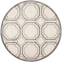 Safavieh Amherst Abigail 5-Foot Round Indoor/Outdoor Area Rug in Ivory/Light Grey