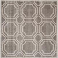 Safavieh Amherst Abigail 7-Foot Square Indoor/Outdoor Area Rug in Grey/Light Grey
