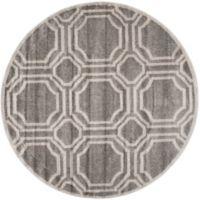 Safavieh Amherst Abigail 7-Foot Round Indoor/Outdoor Area Rug in Grey/Light Grey