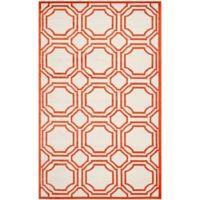 Safavieh Amherst Abigail 6-Foot x 9-Foot Indoor/Outdoor Area Rug in Ivory/Orange