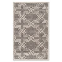 Safavieh Amherst Derry 2-Foot 6-Inch x 4-Foot Indoor/Outdoor Rug in Grey/Light Grey