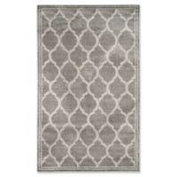 Safavieh Amherst Links 5-Foot x 8-Foot Indoor/Outdoor Area Rug in Grey/Light Grey