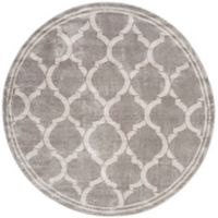 Safavieh Amherst Links 7-Foot Round Indoor/Outdoor Area Rug in Grey/Light Grey