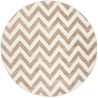 Safavieh Amherst Chevy 7-Foot Round Indoor/Outdoor Area Rug in Wheat/Beige